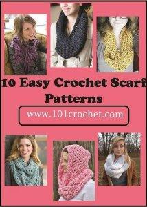 10 Easy Crochet Scarf Patterns