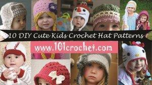 10 chic kid crochet hat patterns
