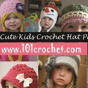 10 chic kid crochet hat patterns