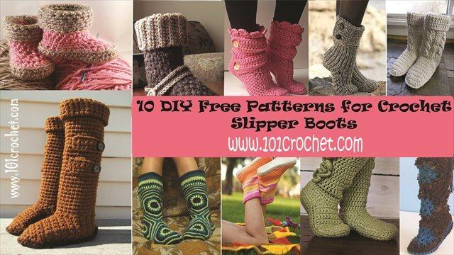 DIY crochet slipper boots