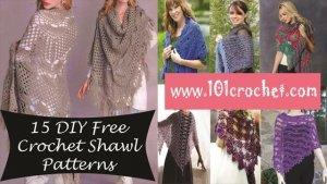 15 DIY Free Crochet Shawl Patterns