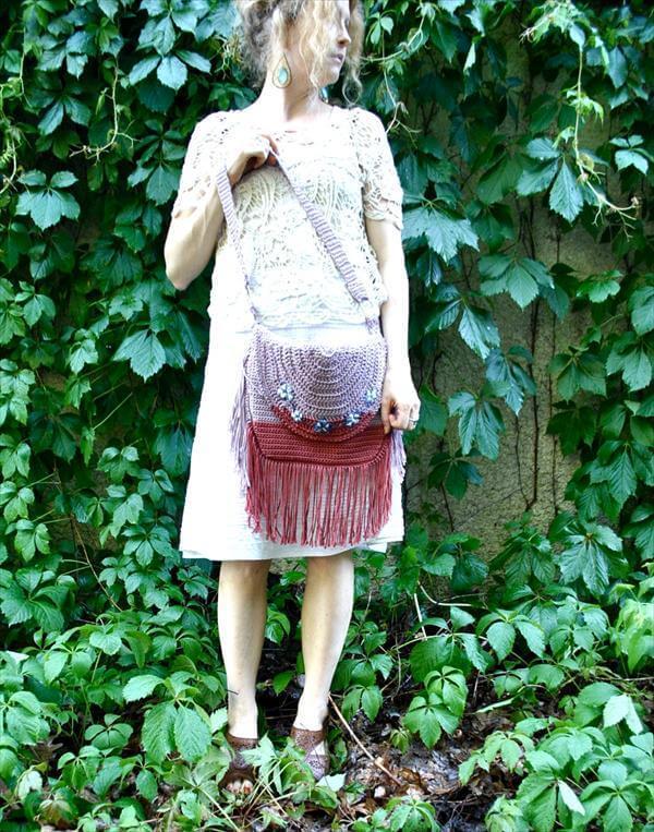 free Bohemian crochet bag