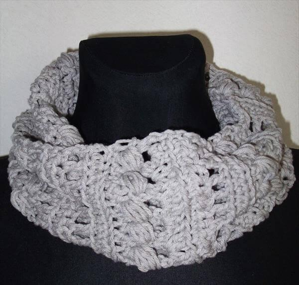 diy crochet infinity scarf and cowl pattern