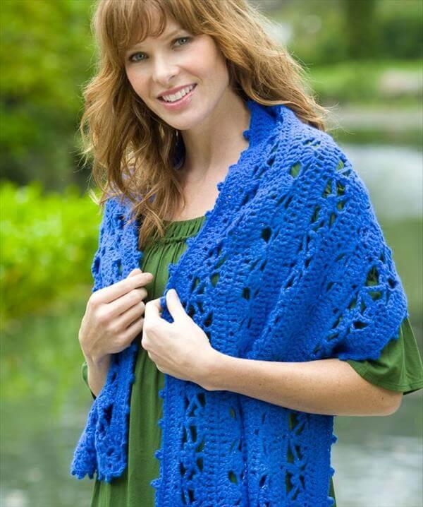 free women crochet shawl