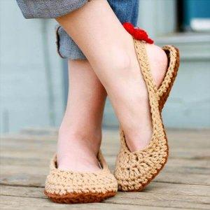 free crochet women slipper pattern