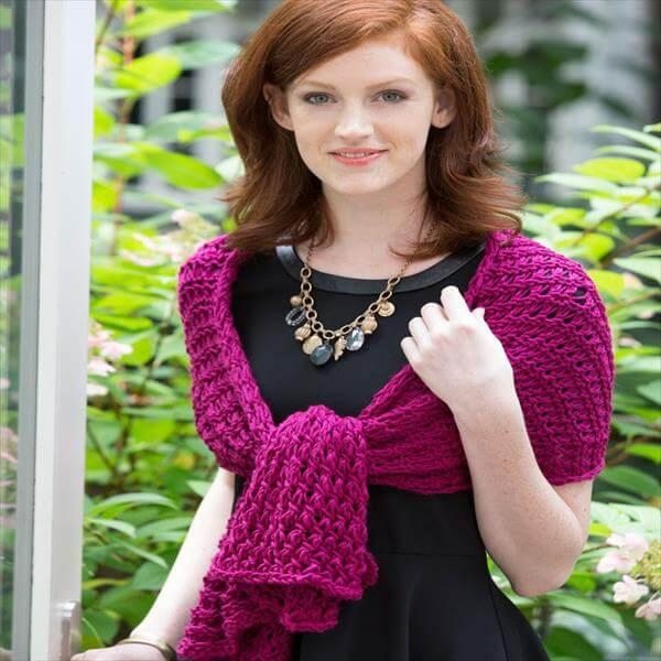 modern women shawl pattern from crochet