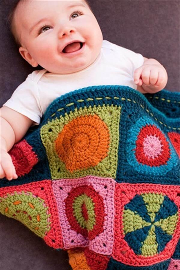 diy square crochet baby blanket pattern