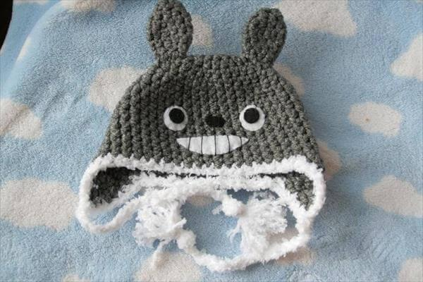 hand crocheted baby crochet totoro hat