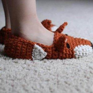diy crochet fox style shoes pattern