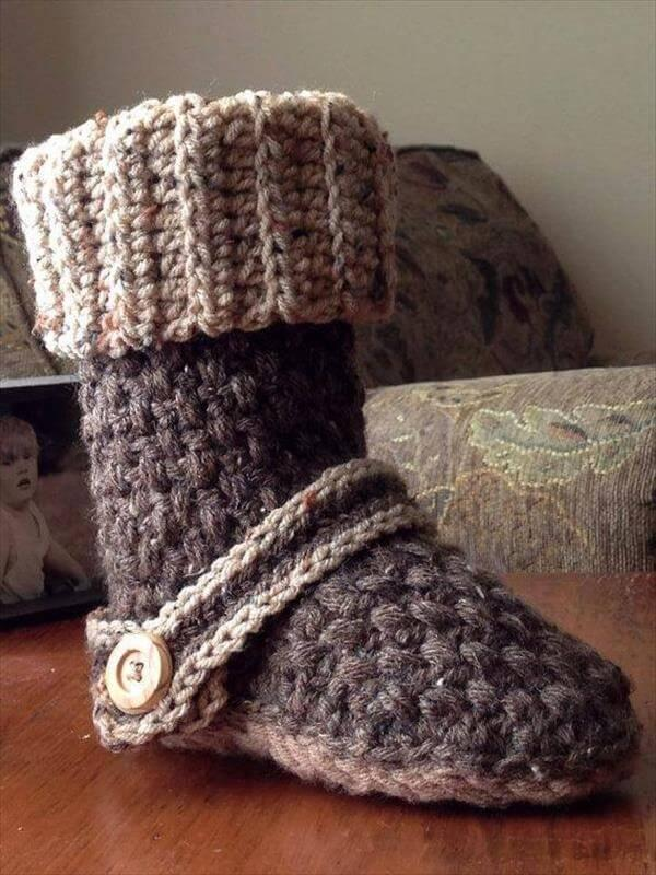 beautiful crochet slipper boots pattern