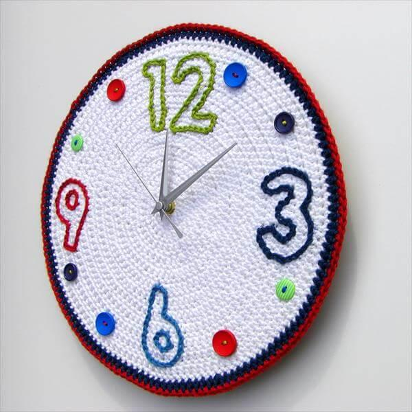 wall clock crochet pattern