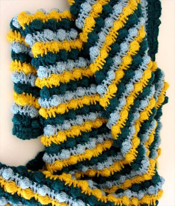 chic baby bobble crochet baby blanket