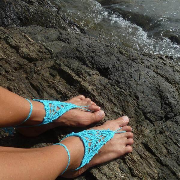 free barefoot crochet sandal pattern