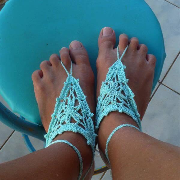 crochet barefoot sandal pattern
