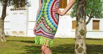 chic free crochet fashion dress