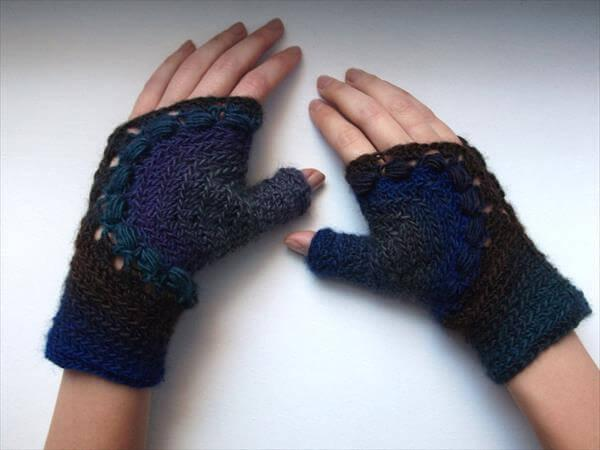 diy crochet fingerless gloves for women
