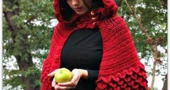 vintage crochet hooded cape