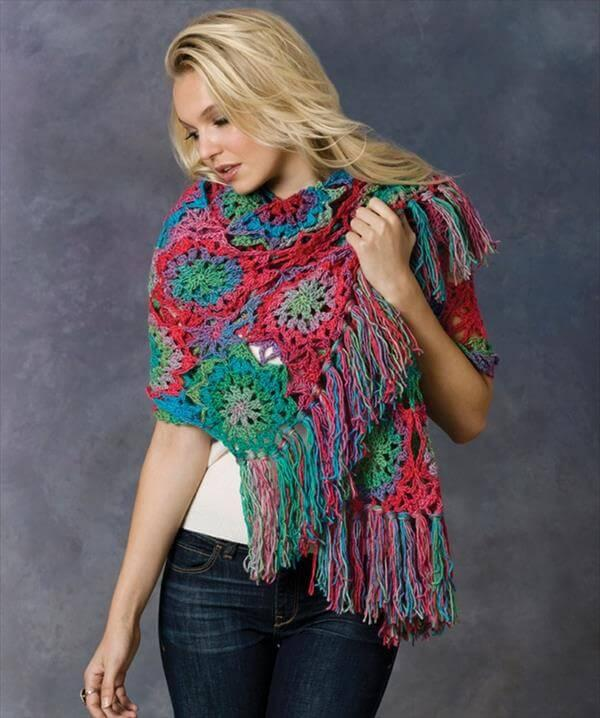 free crocheted shawl