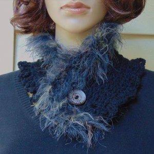 modern crochet neckwarmer