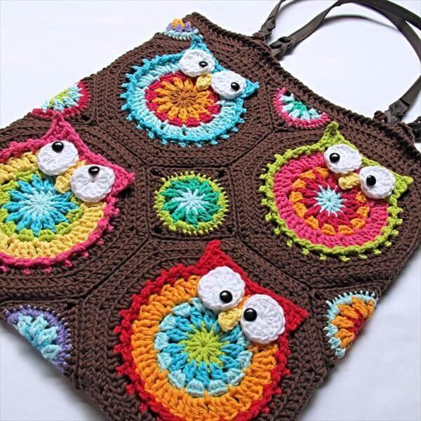 free crochet owl tote pattern