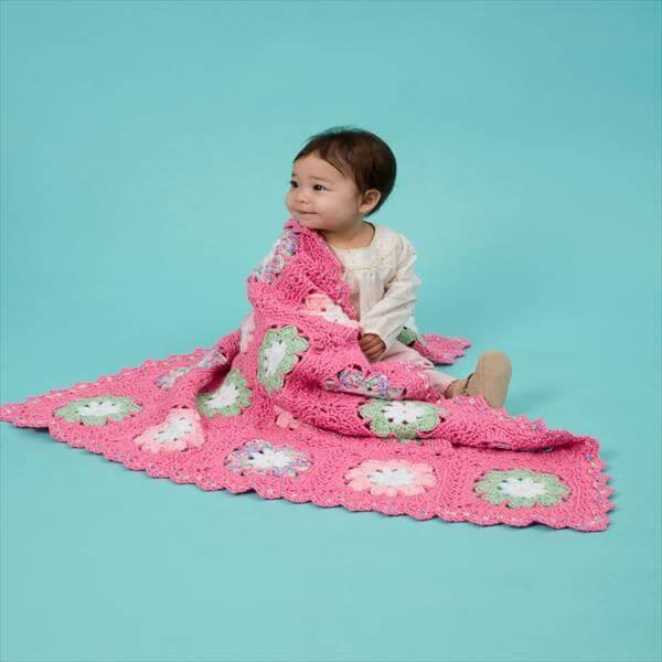 chic flower crochet baby pattern