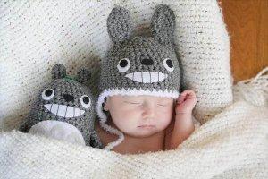 baby totoro kids crochet hat