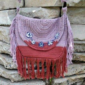 free Bohemian crochet bag pattern