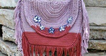 free Bohemian crochet bag pattern