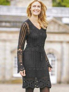 free crochet fashion dress pattern