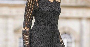 free crochet fashion dress pattern