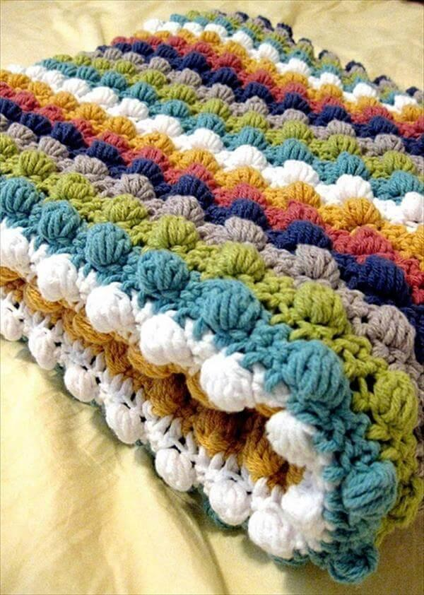 chic bobble crochet baby blanket pattern