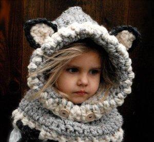 Crochet Wolf Baby Cowl Pattern