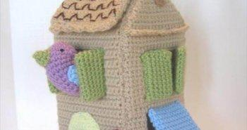 crochet bird house pattern