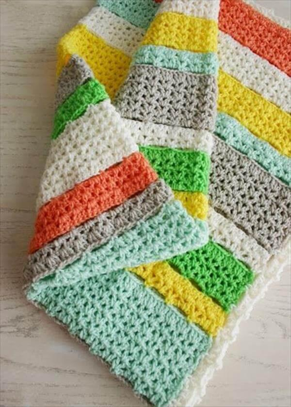 colorful free crochet blanket pattern