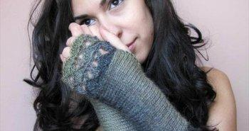 chic crochet fingerless gloves