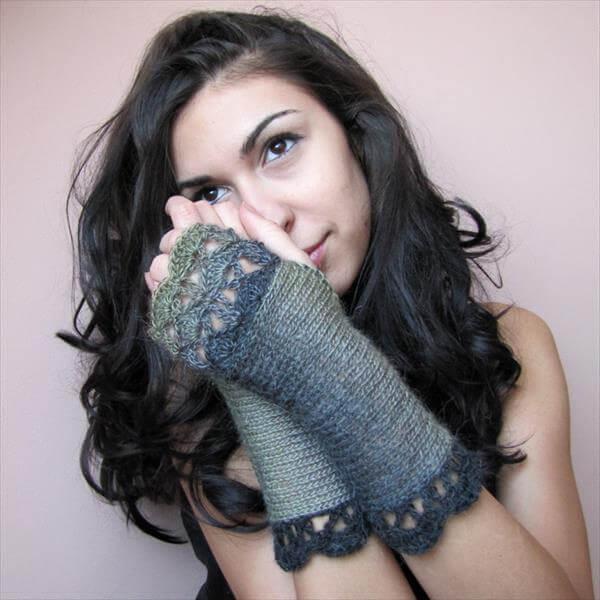 chic crochet fingerless gloves