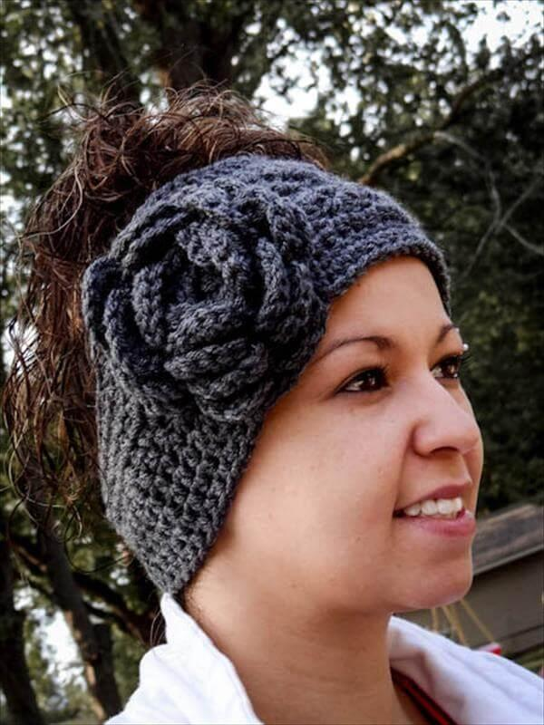 diy crochet headband and ear warmer