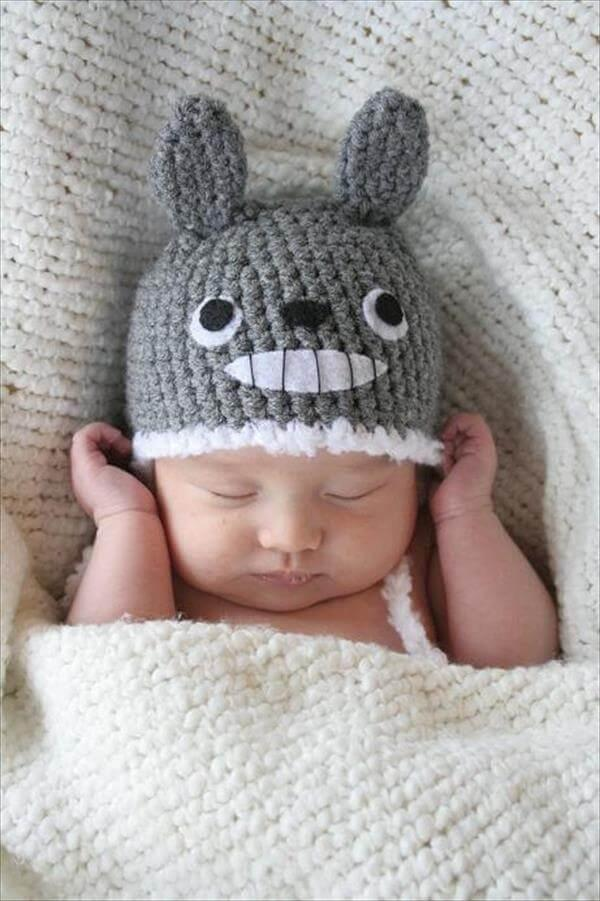 newly born baby totoro crochet hat pattern