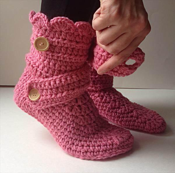 diy crochet women slipper pattern