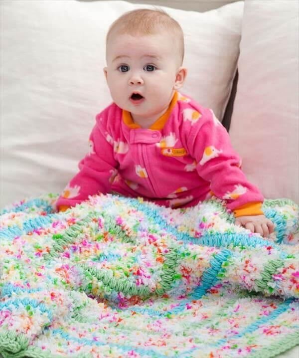 diy cuddle crochet baby blanket