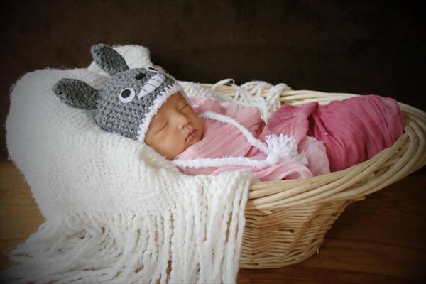 free newly born bay crochet totoro hat