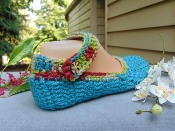 diy free women crochet slipper pattern