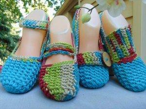 Crochet Flat Slippers Pattern for Women