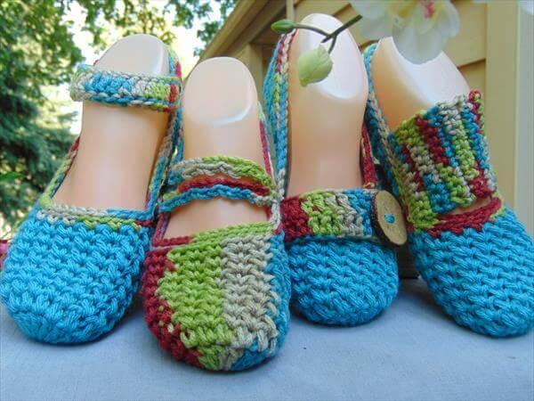 chic women crochet shoes patterns