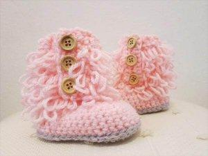 Crochet Baby Snow Shoes Pattern