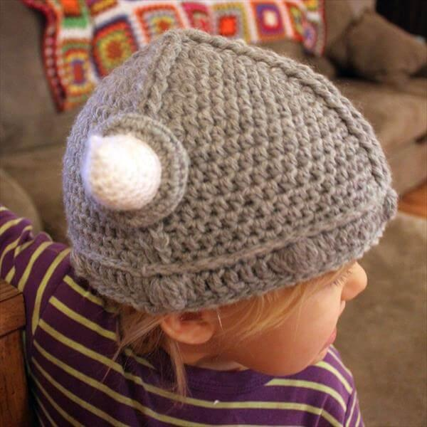 chic viking kids crochet hat