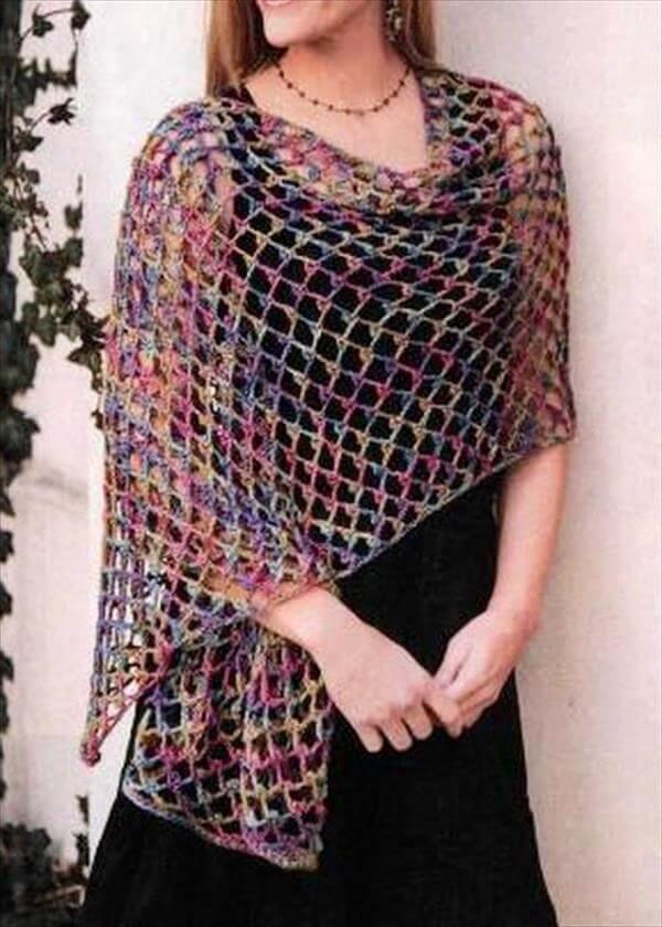 quick crochet shawl pattern