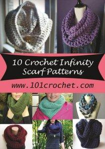 10 Crochet Infinity Scarf Patterns