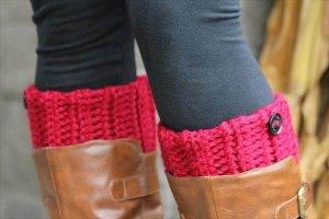 Chunky Crochet Boot Cuffs