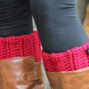 chic winter crochet boot cuffs